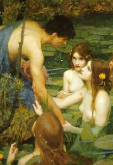 Waterhouse - Hylas and the Nymphs - detail